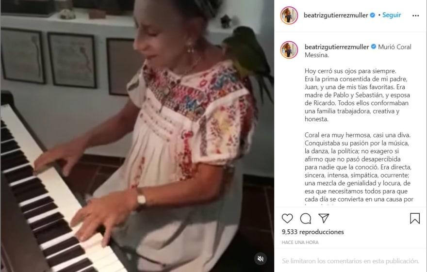 """Beatriz Gutiérrez AMLO luto: """"Hoy cerró sus ojos"""""""