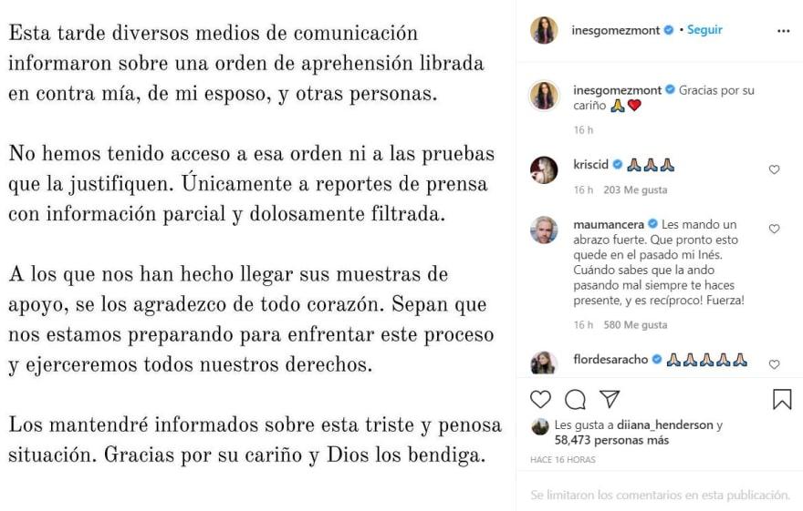 Inés Gómez Mont comunicado: Lo que los medios informaron