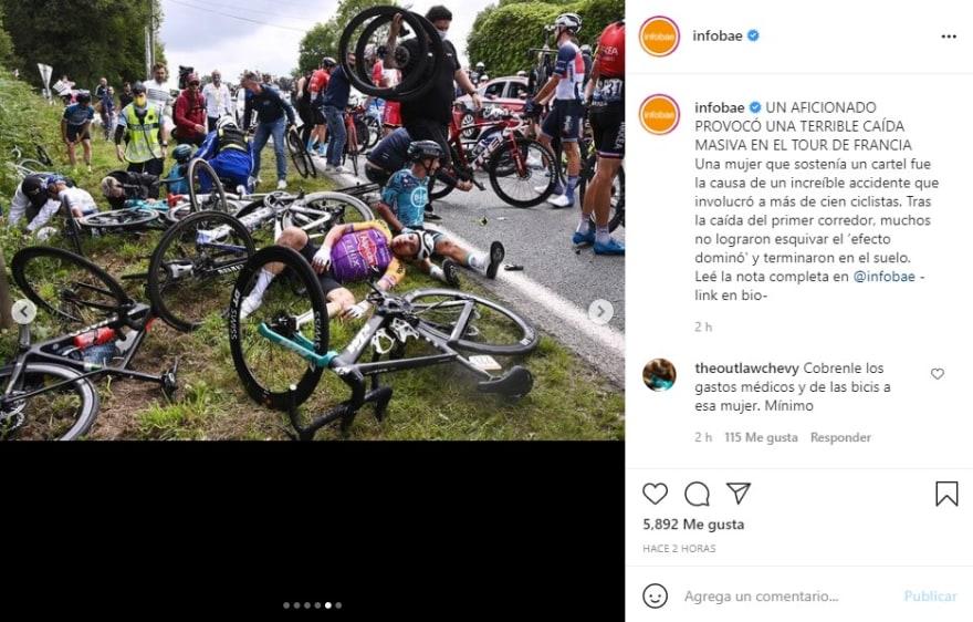 Accidente Tour de Francia: Por lesiones, abandona competencia