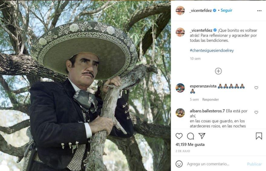 "Vicente Fernández mensaje agradecimiento: ""Tu México te ama"""