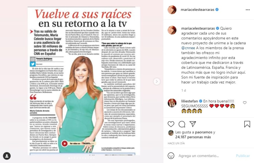 María Celeste rechazo, quieren ver nuevas caras en la tv