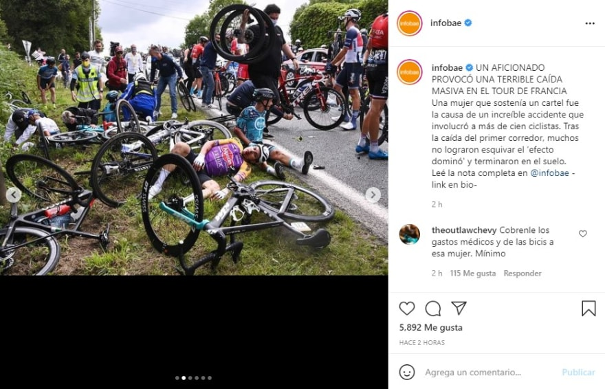 Accidente Tour de Francia: Mujer será demandada