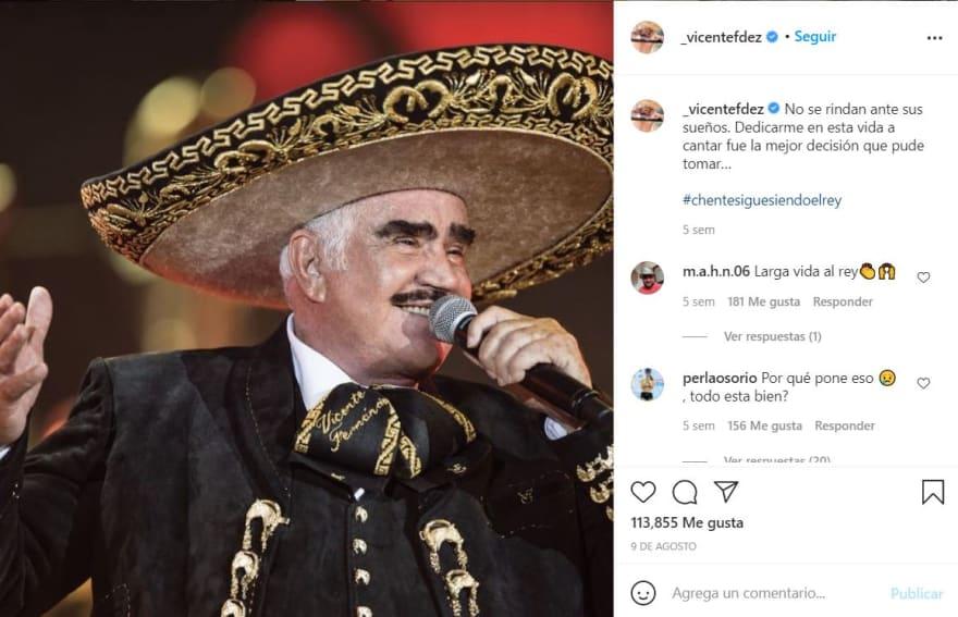 Vicente Fernández mensaje agradecimiento: Festejando la Independencia de México