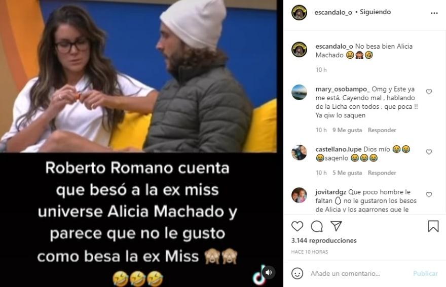 Alicia Machado nopal with thorns Roberto Romano: They are not boyfriends