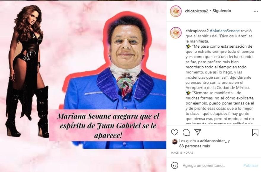 Mariana Seoane espíritu Juan Gabriel: Burlas de los usuarios