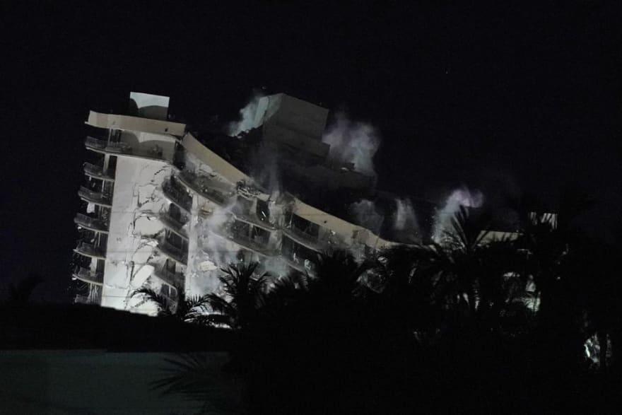 Search resumed after Miami building demolition