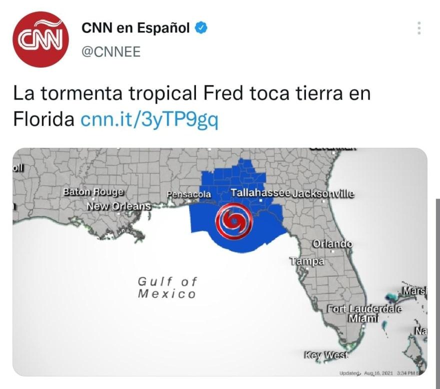 Tormenta Fred toca tierra en Estados Unidos y cancelan clases
