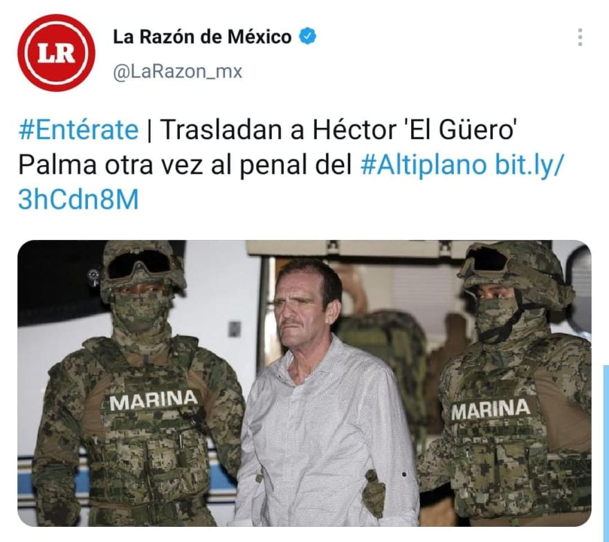 "Héctor ""El Güero"" Palma Salazar vuelve a ser detenido en México"