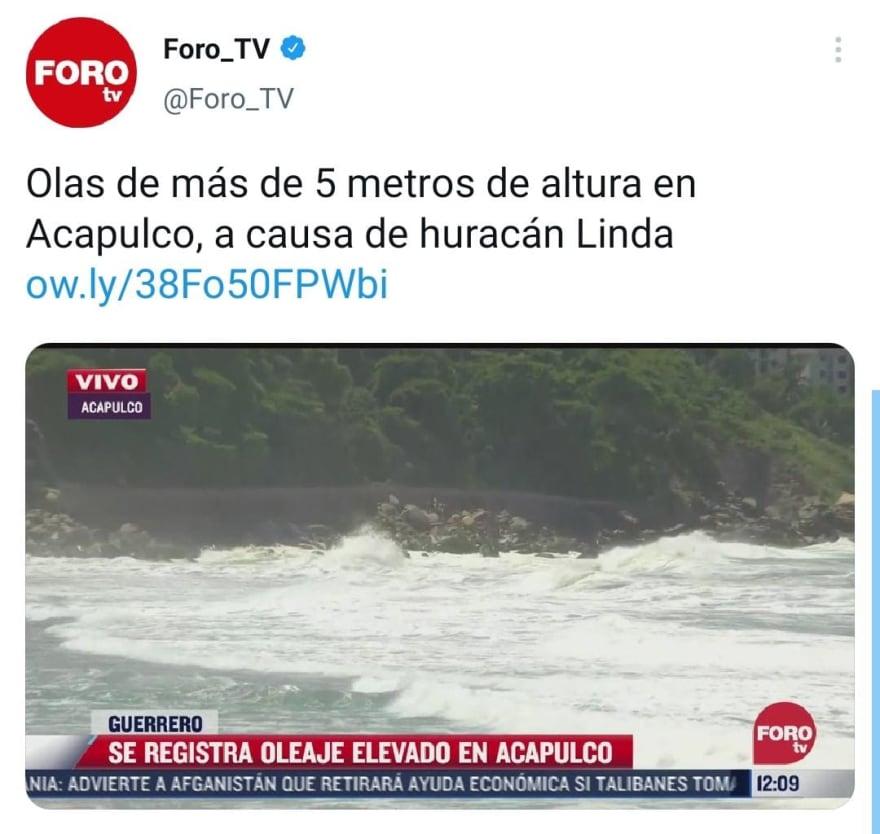Se forma el nuevo huracán Linda