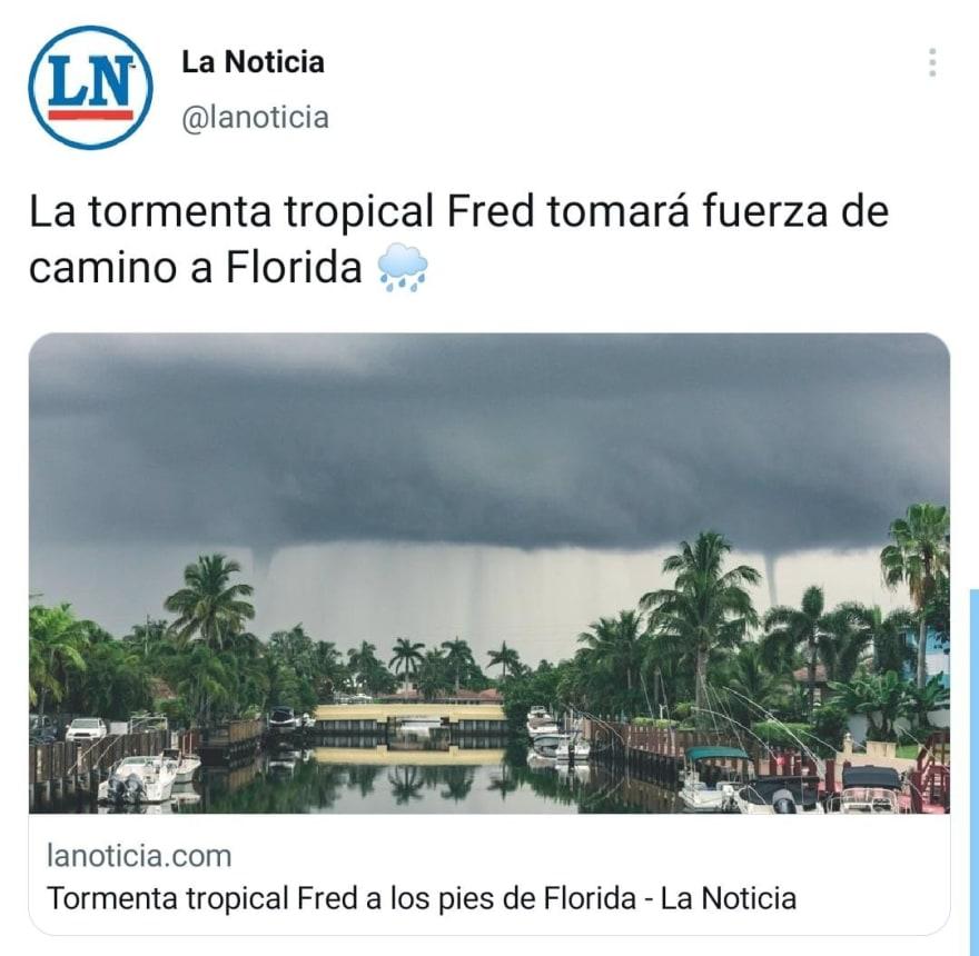 Confirman que estados de EE.UU. serán afectados por la tormenta Fred