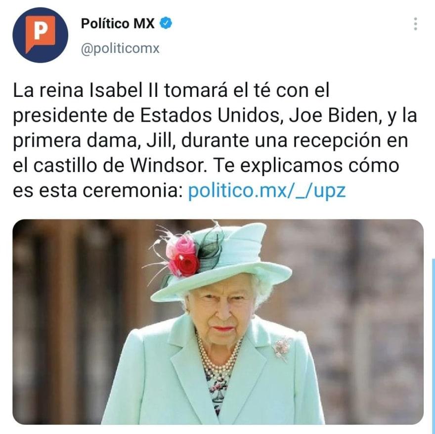 Joe Biden Reina Isabel