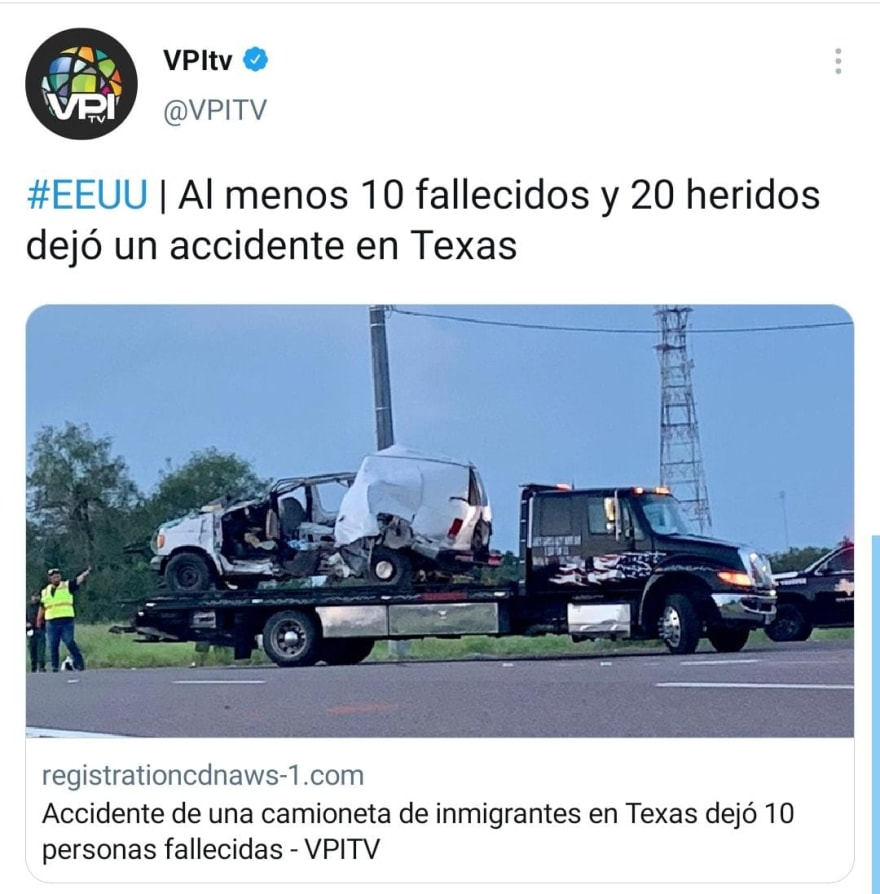 They reveal photos of the bodies of immigrants in the crashed truck in Texas