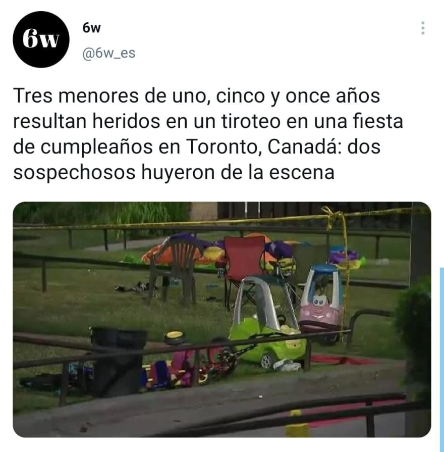 Brutal tiroteo en fiesta de cumpleaños manda a niños al hospital