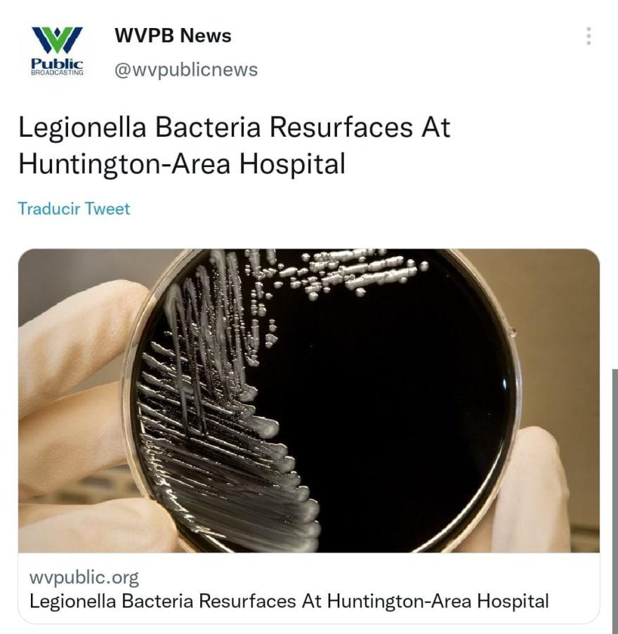 Legionella bacteria reappear in hospital