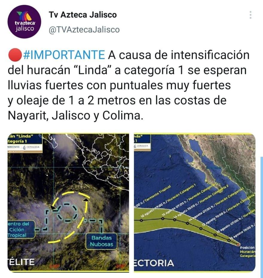 Advierten más fenómenos como el huracán Linda