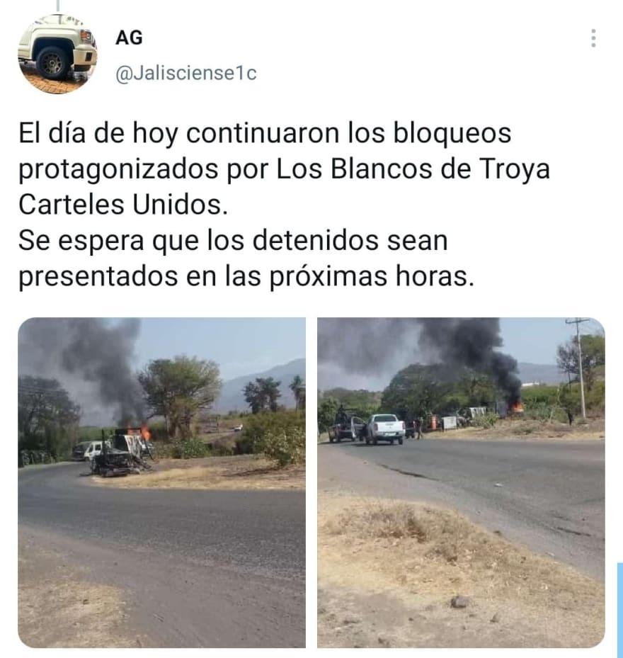 Previo a la muerte de La Chopa, queman carros para bloquear el paso