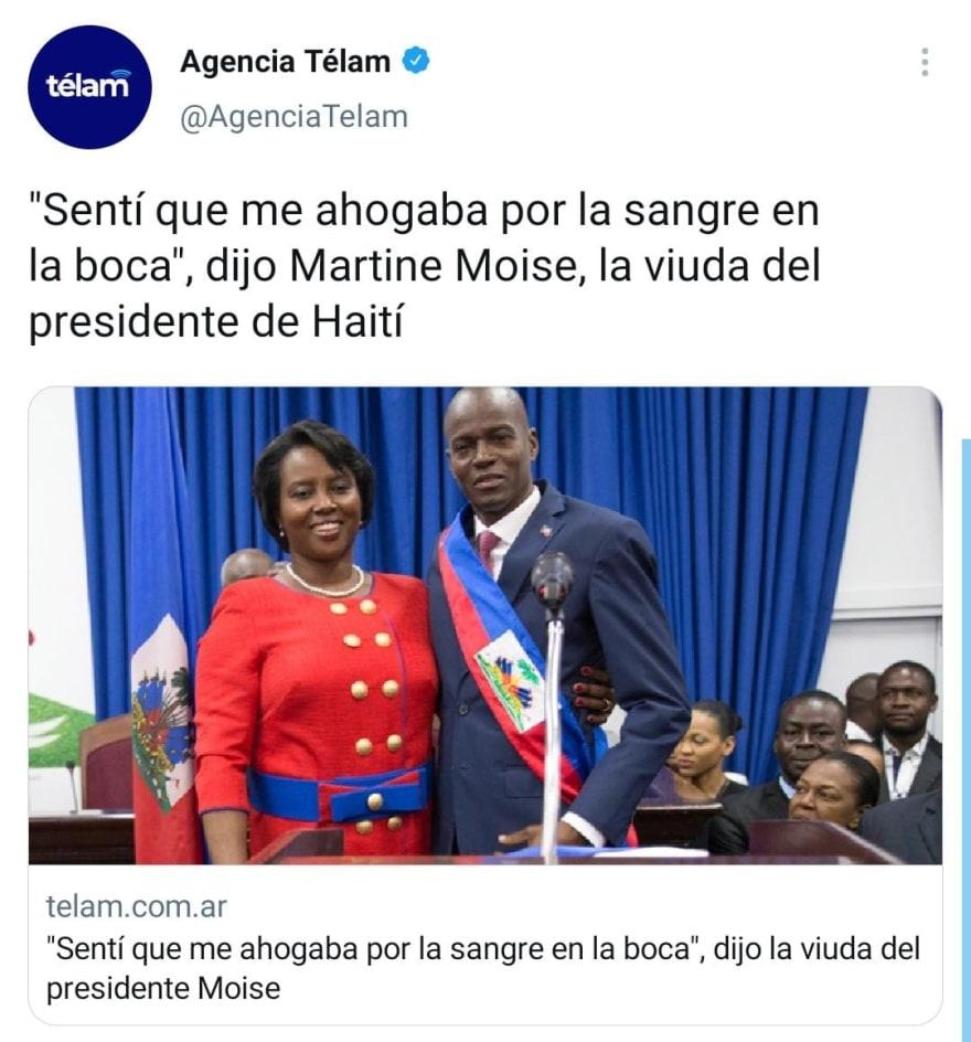 Martine Moïse, viuda del presidente asesinado de Haití revela sus intenciones