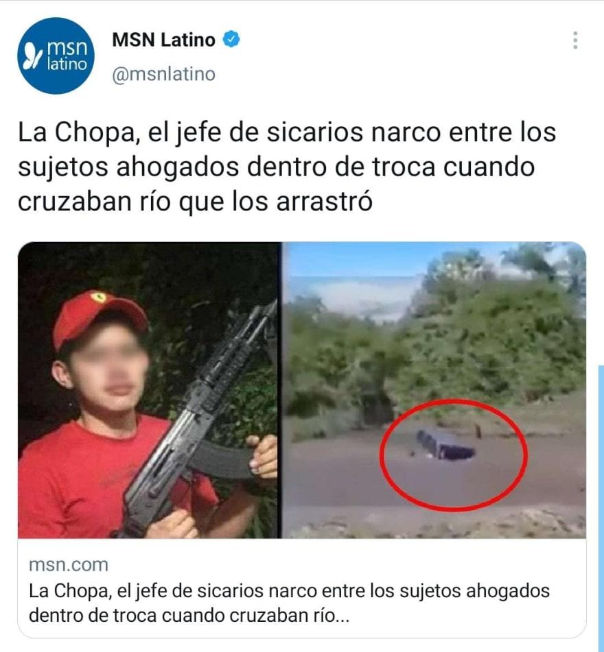 """Jefe de sicarios de Los Blancos de Troya, """"La Chopa"""" muere ahogado en río"""