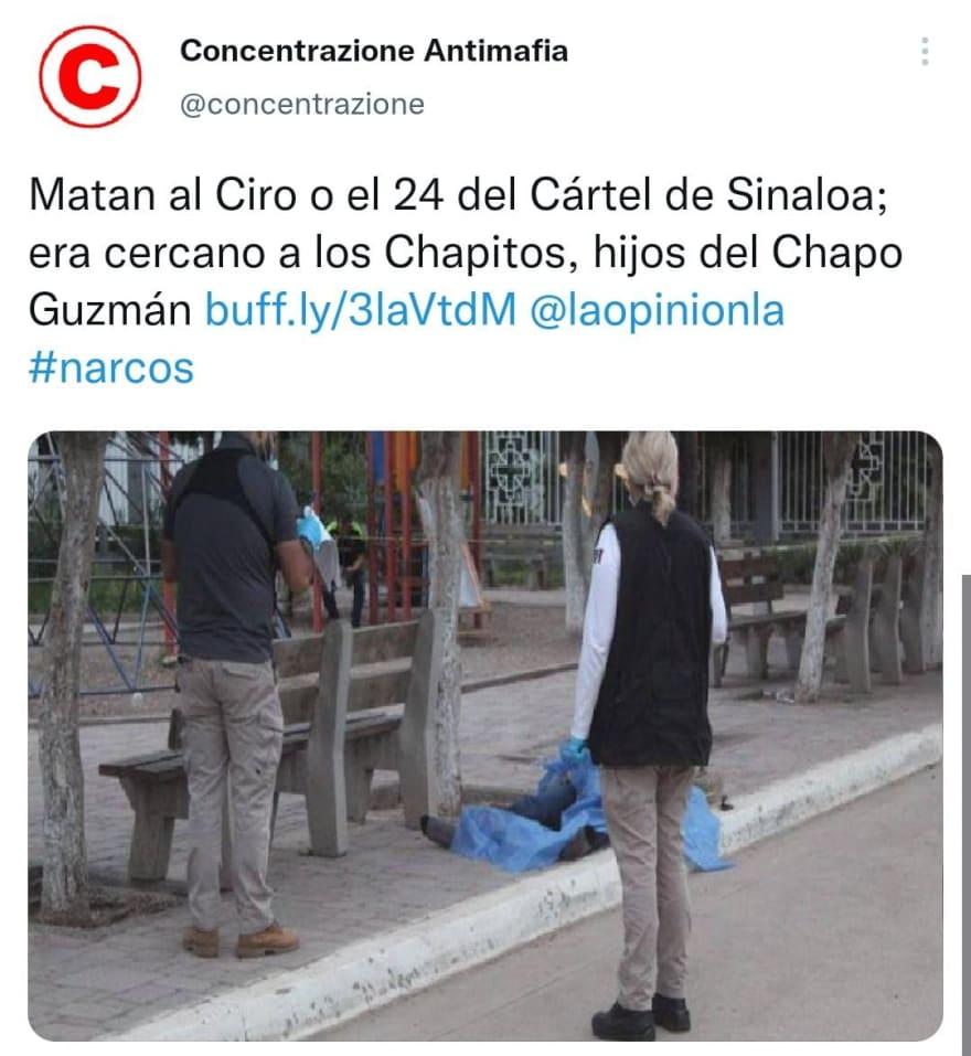 """""""El Ciro"""" jefe de plaza al servicio de """"Los Chapitos"""" fue acribillado en otra zona"""