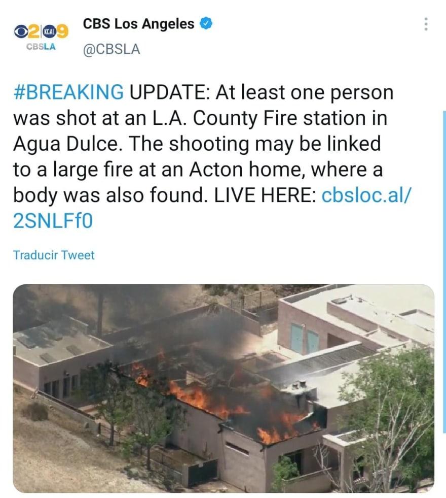 Investigan la relación entre el tirador y la víctimas en estación de bomberos de California.