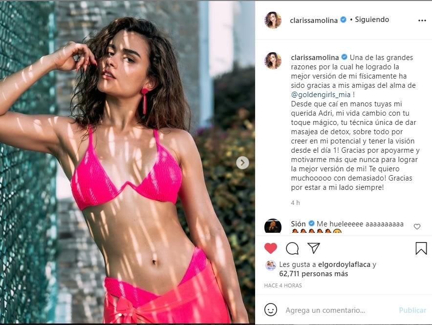 Clarissa Molina bikini El Gordo y la Flaca