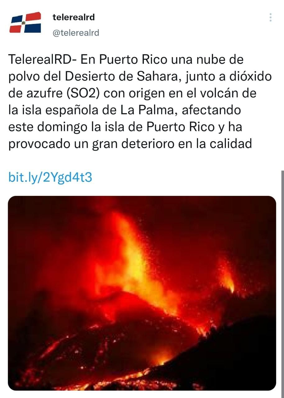 Dust cloud and sulfur dioxide affect Puerto Rico