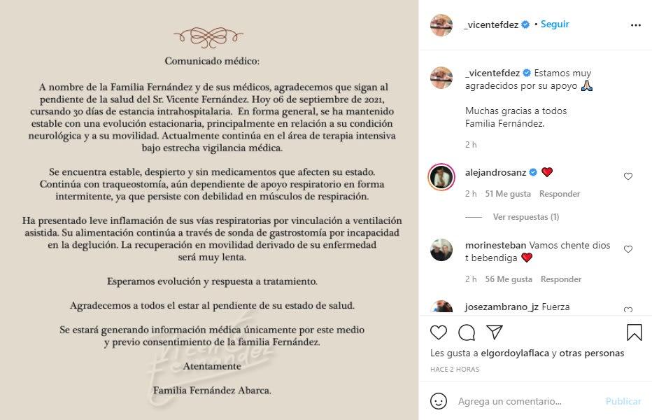 Dan último reporte sobre la salud de Vicente Fernández: no hay buenas noticias
