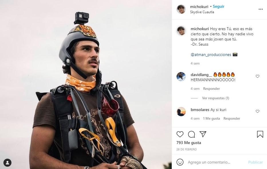 Hijo novio de Lucero Michel Kuri Jr accidente