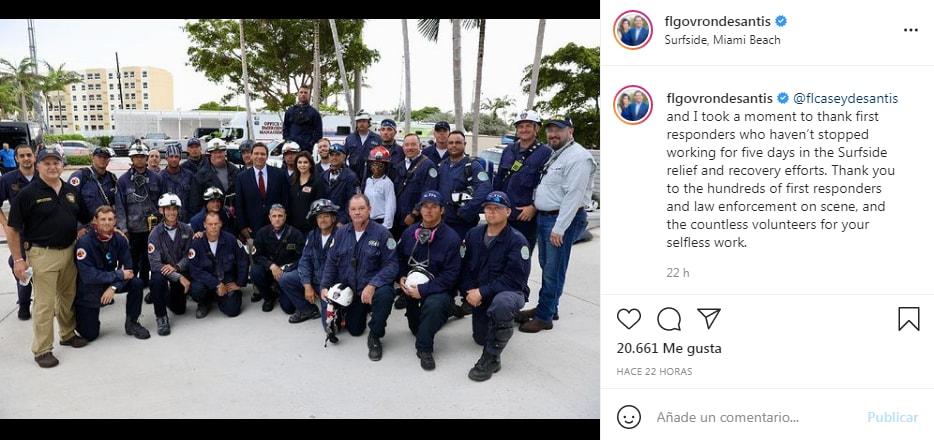 El Departamento de Bomberos y Rescate de Miami ha sido encargado de liderar los equipos de rescate