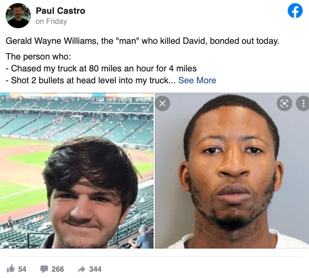 David Castro asesino libre: Salió a divertirse con su padre y su hermano