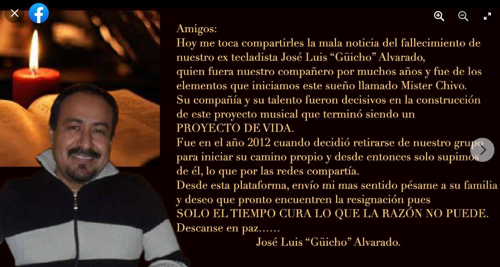Siguen los mensajes para José Luis Alvarado