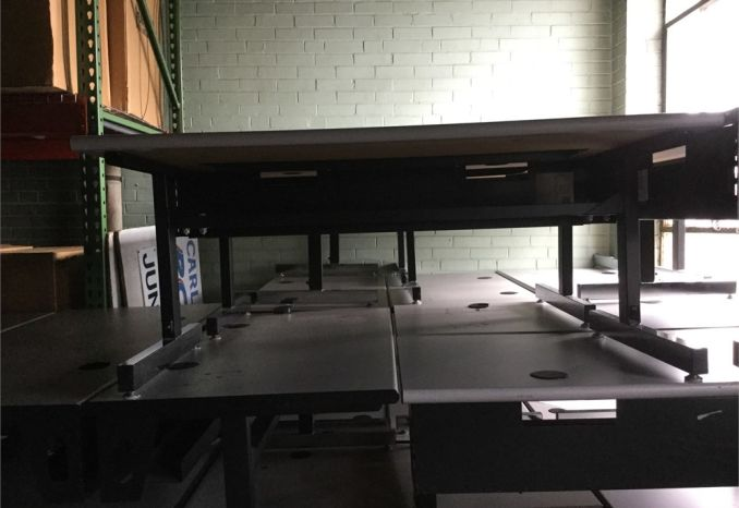 "Lot of 5 24"" x 48"" computer tables"