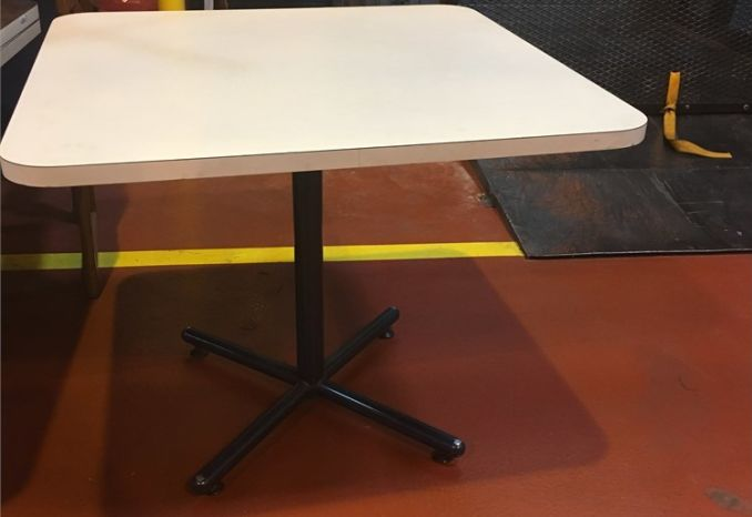 4 - USED 36X36 SQUARE TABLES