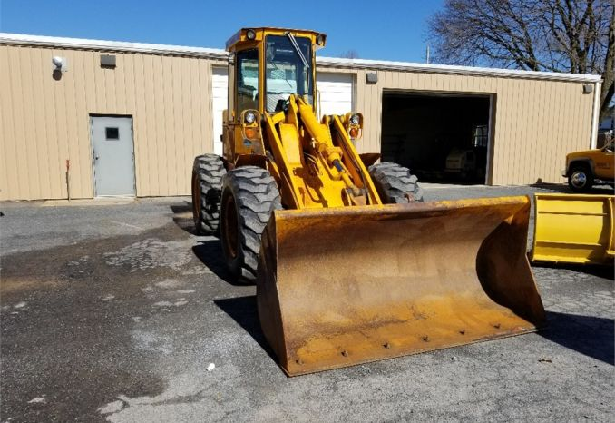 1985 John Deere 544C Wheel Loader with Valk Plows