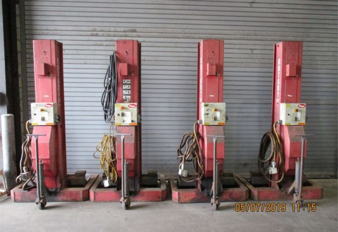 6 ROTARY MOBILE LIFT COLUMNS HP415-100 /LOT38-25-LIFTS