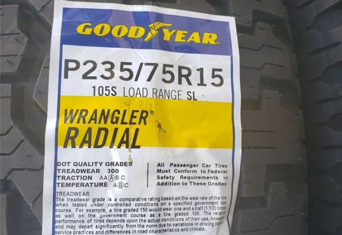 GOODYEAR (NEW) TRUCK TIRES /LOT 38-25-TRUCKTIRES1