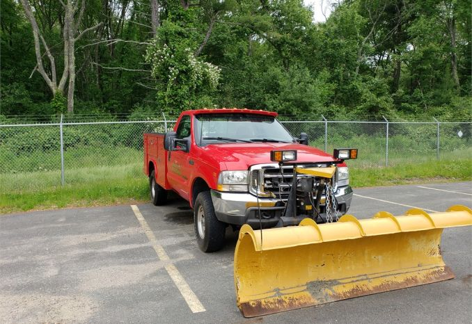 2002 Ford F350 4X4 Diesel Utility Body Truck with Fisher Plow