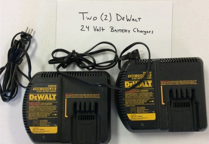 Two (2) Dewalt 24 Volt Battery Chargers