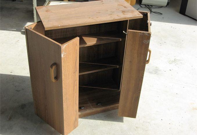 Bi-fold Wooden Cabinet (#27)