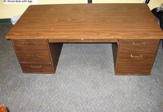 Wooden Desk with Legs (#1)