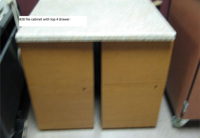 File Cabinet with top, 4 drawer (#28)