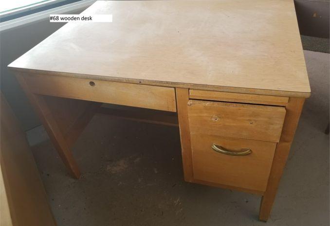 Wooden Desk (#68)