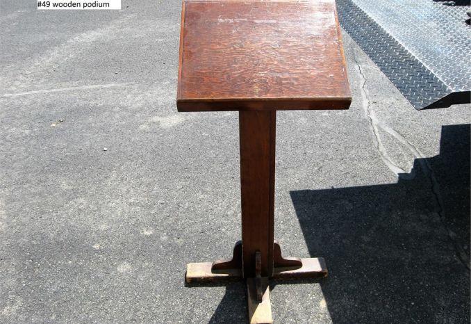 Wood Podium (#49)