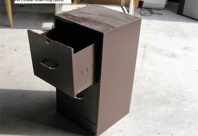 2 Drawer File Cabinet (#54)
