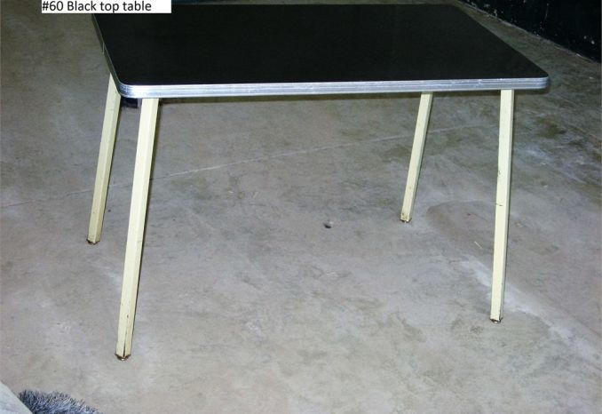 Table Black Top (#60)