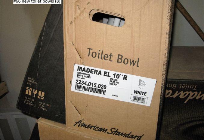 New Toilet Bowls -Qty 8 (#66)