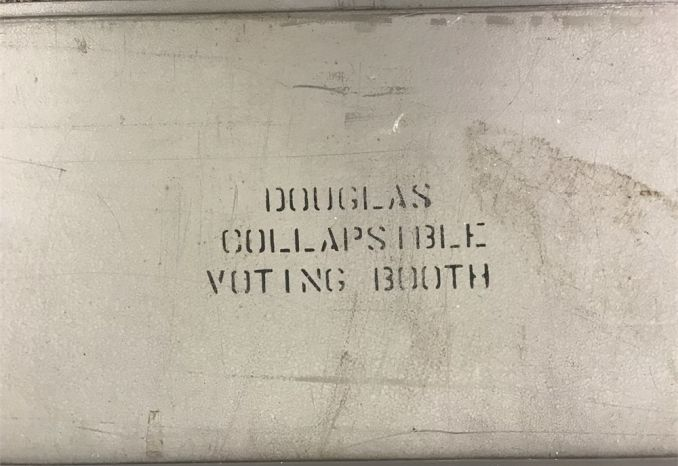 Douglas Collapsible Voting Booth