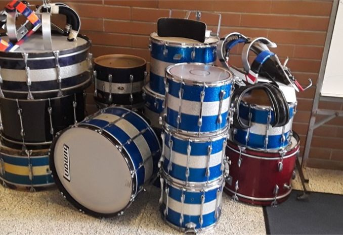 Drums - Various sizes and types.