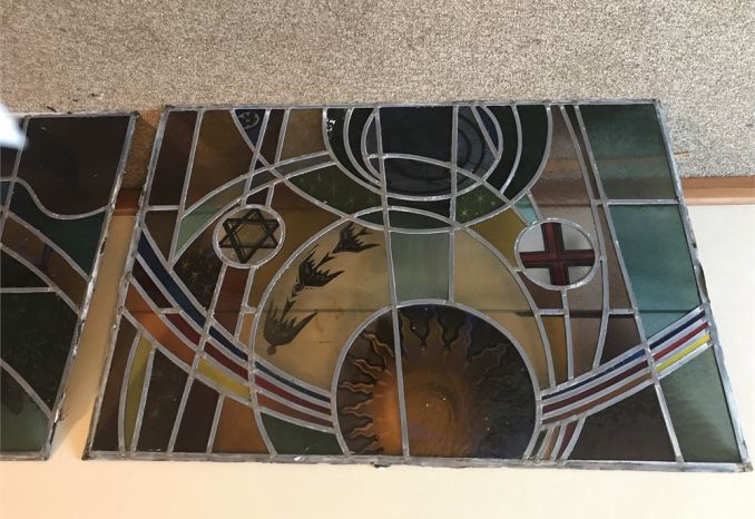 (2) Stained glass windows
