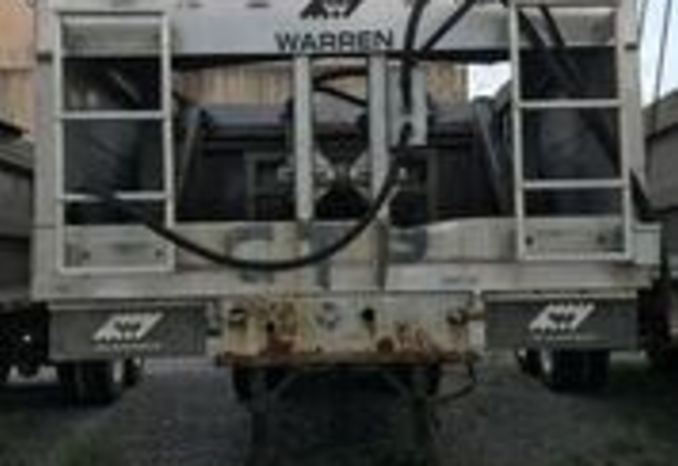 2012 Warren Sludge Trailer, Tires worn, condition of tarp unknown